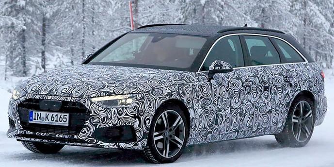 опубликованы шпионские снимки рестайлингового Audi A4 Avant